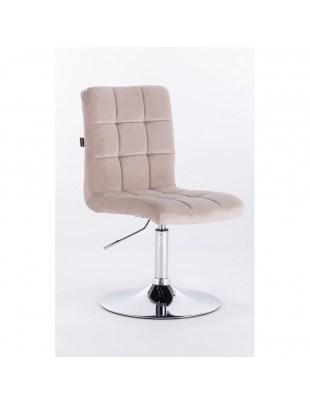 Camelia - Krzesło kosmetyczne beżowy welur