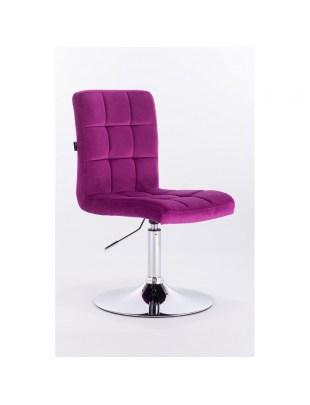Camelia - Krzesło kosmetyczne fuksja welur