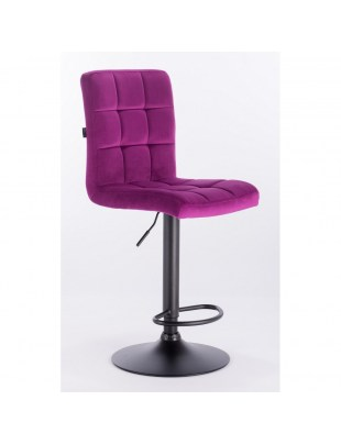 Camelia bar - krzesło kosmetyczne z podnóżkiem fuksja welur