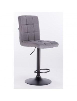Camelia bar - krzesło kosmetyczne z podnóżkiem szara tkanina