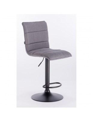 Camel bar - krzesło kosmetyczne z podnóżkiem szara tkanina