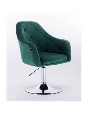 Blerm – krzesło kosmetyczne tapicerowane turkusowym welurem