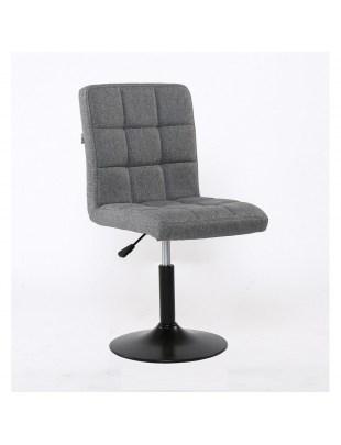 Alia – krzesło kosmetyczne tapicerowane szarą tkaniną