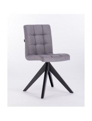 Jorn – krzesło do poczekalni tapicerowane szarą tkaniną