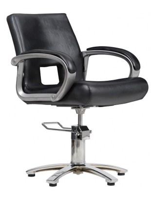 Milano - Fotel fryzjerski - czarny