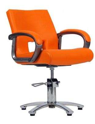 Milano - Fotel fryzjerski - pomarańczowy