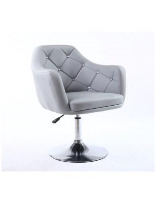 Blink - Krzesło kosmetyczne szare WYBÓR PODSTAW