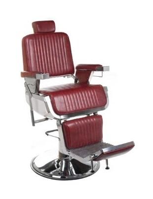 Fotel barberski LUMBER BH-31823 Burgund