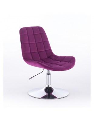 Niklas - Fotel kosmetyczny tapicerowany welurem w kolorze fuksji
