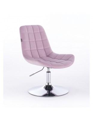 Niklas - Fotel kosmetyczny tapicerowany welurem w kolorze wrzosowym