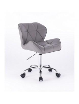 Krzesło kosmetyczne Petyr - szare