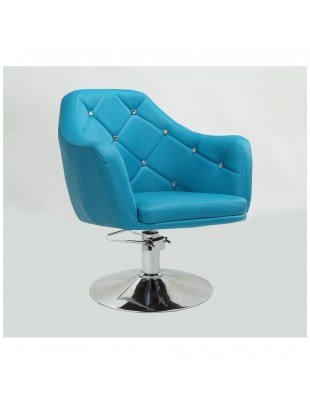 Blink LUX  - turkusowy fotel fryzjerski na pompie hydraulicznej