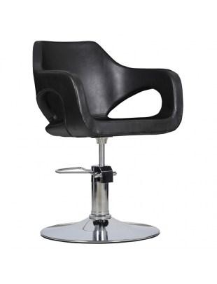 Bresso - fotel fryzjerski czarny
