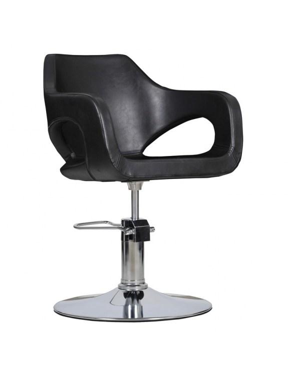 Fotel fryzjerski Bresso - czarny