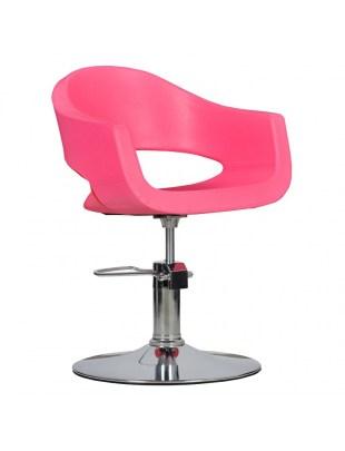 Fotel fryzjerski Prato - różowy