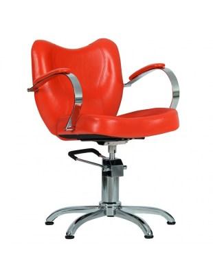 Fotel fryzjerski Retro - czerwony