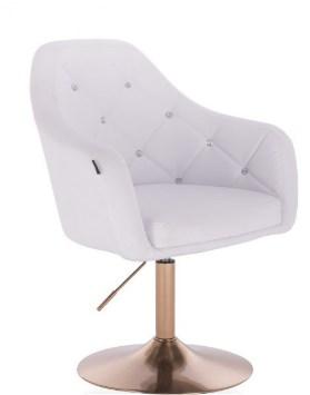 biały fotel glamour