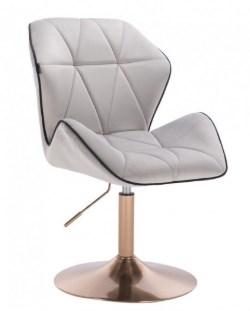 krzeslo kosmetyczne szary melanz