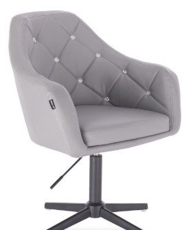 szare krzeslo kosmetyczne eco-skora pikowane
