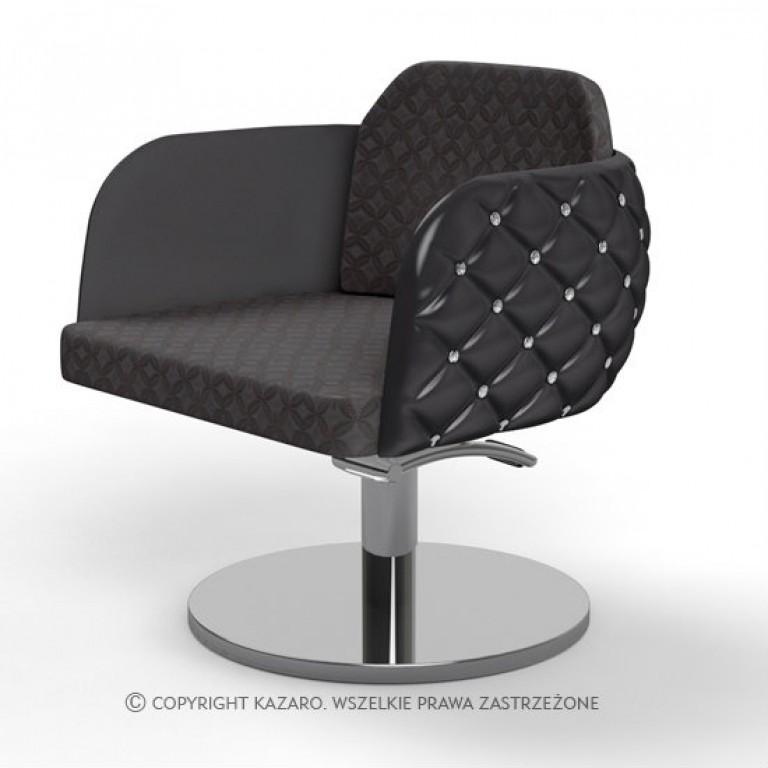 glamour fotel kosmetyczny pikowany
