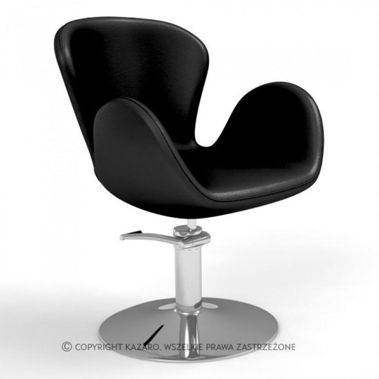 fotel fryzjerski modernistyczny czarny