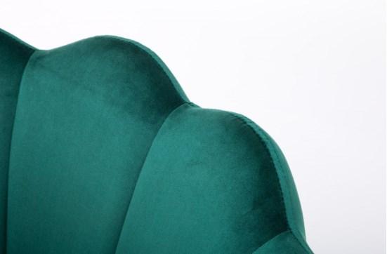 fotele muszelka butelkowa zieleń welur