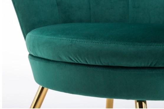 wygodny fotel welurowy butelkowa zielen
