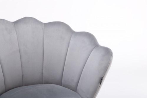 fotele muszelka szare
