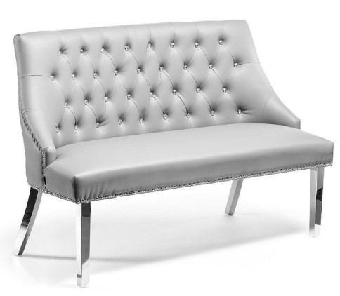 Ławka / sofa do poczekalni pikowana szara.