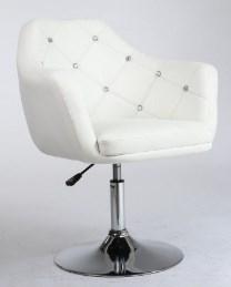 fotel pikowany kosmetyczny blink bialy
