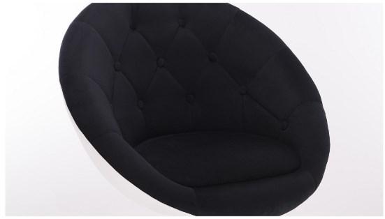 czarna welurowa tkanina pikowana obicie fotela