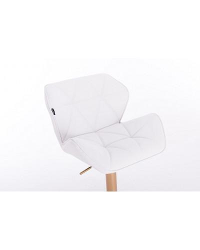 fotel kosmetyczny w bieli pikowany