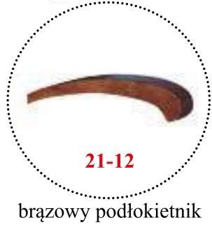 brązowy podłokietnik 21-12